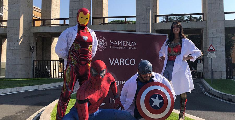 Supereroi alla Sapienza contro il numero chiuso